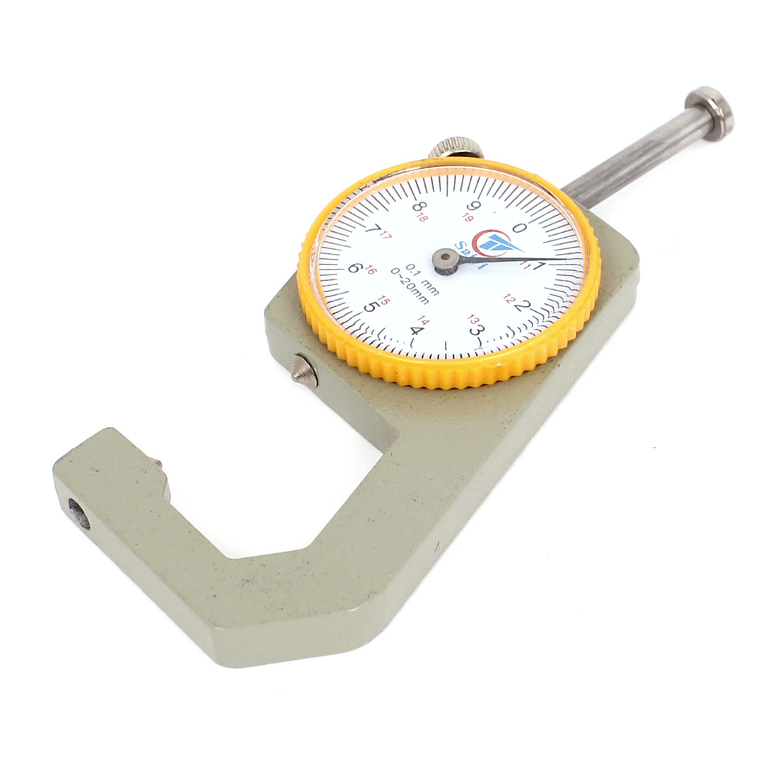 0.1mm Accuracy 0 to 20mm Roud Dial Thickness Gage Gauge Measuring Tool w Case