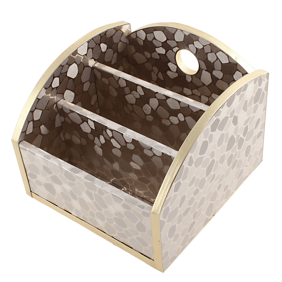 Flooring Texture Pattern 3 Slot Hole Design European Style Wooden Storage Box