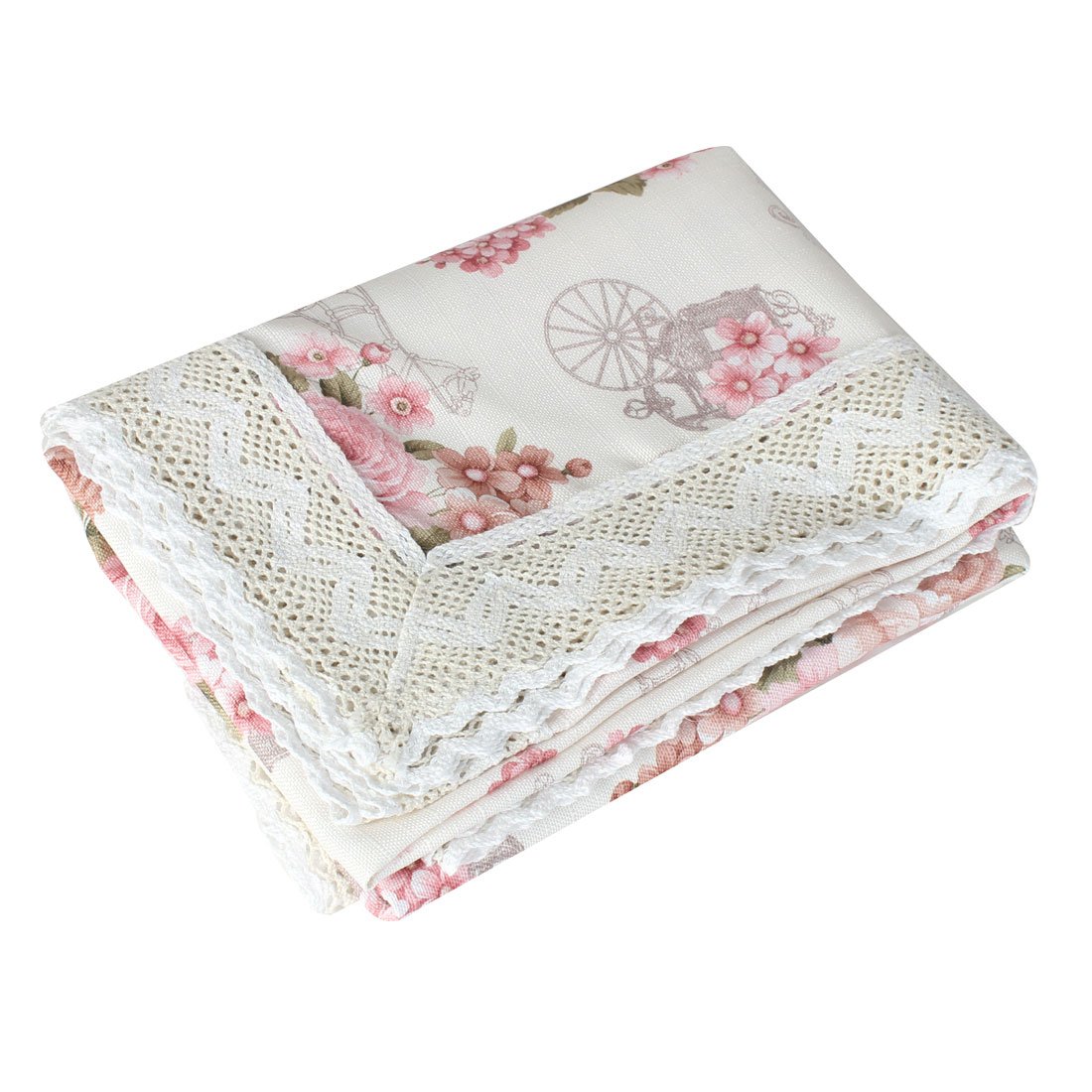 110cmx160cm Carriage Flower Pattern Wedding Party Rectangle Tablecloth