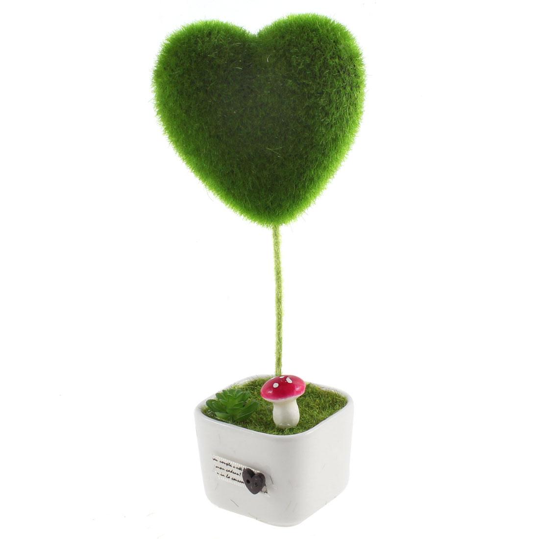 Home Decoration Brithday Wedding Gift DIY LOVE Heart Style Artificial Bonsai