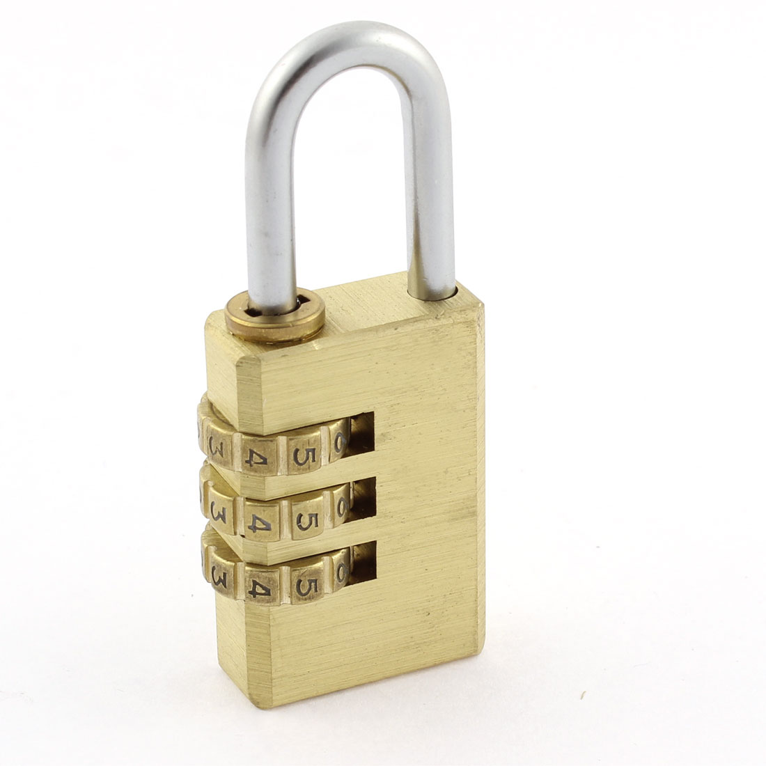 28mm Brass 3 Digit 0-9 Number Resettable Combination Lock Padlock