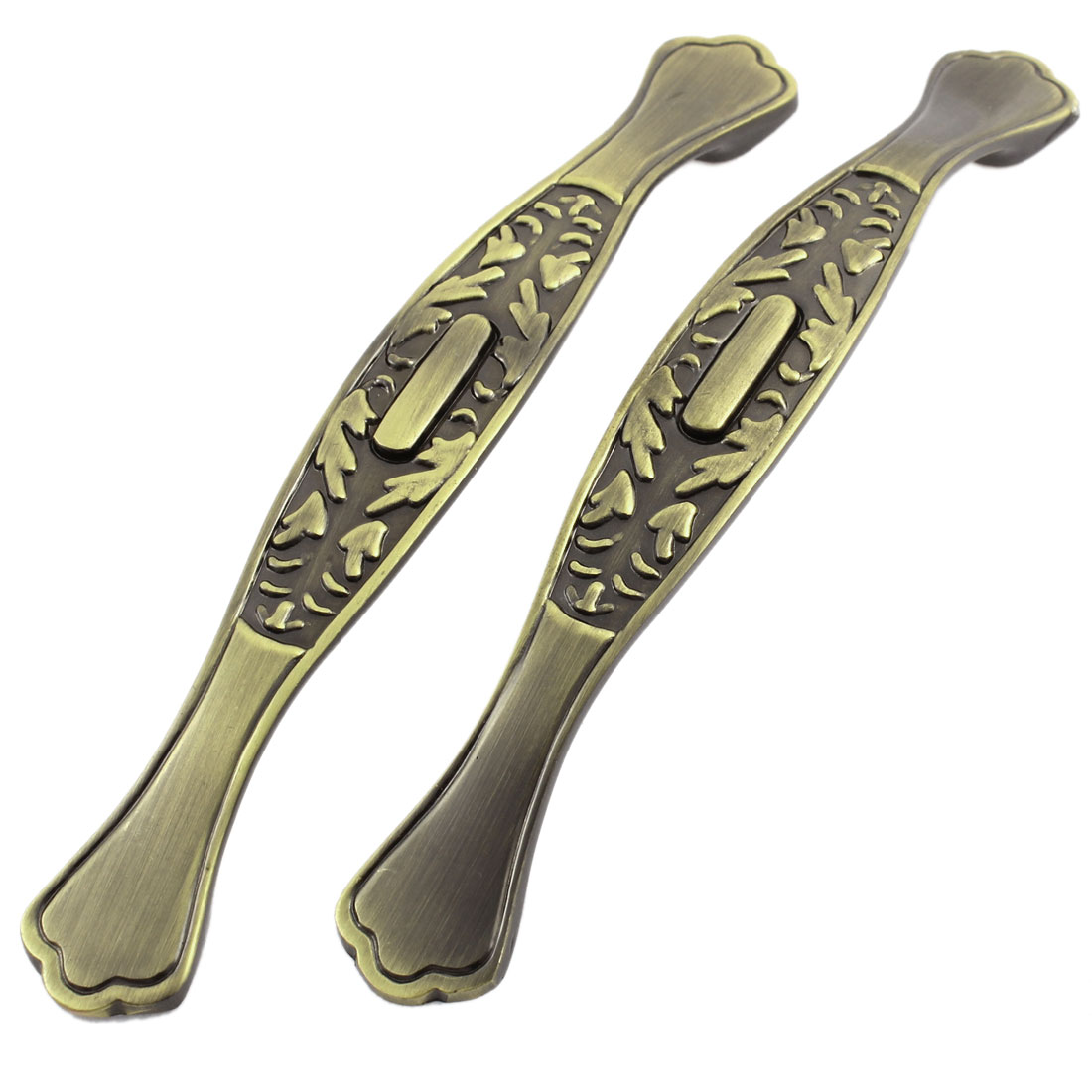 "2 Pcs Brown Tone Zinc Alloy Arch Hardware Door Pull Handle Handgrip 6"" Length"