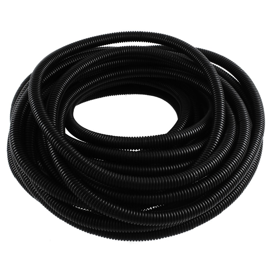 Flexible PVC 13mm Outer Dia Corrugated Tubing Conduit Tube Pipe 12M 39ft Long
