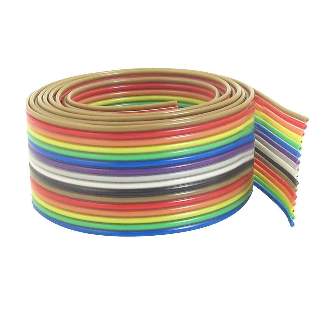 5 Pcs 1.25mm Pitch 16 Pin 16 Way Rainbow Ribbon Jumper Cable Wires 1M Long