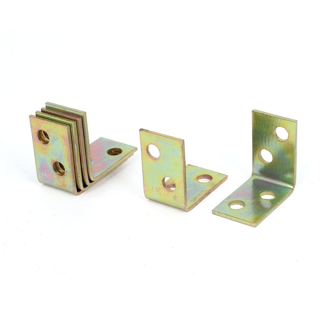 Timber Decking Joists Metal L Shaped 90 Degree Angle Brackets 26x26x16mm 6 Pcs