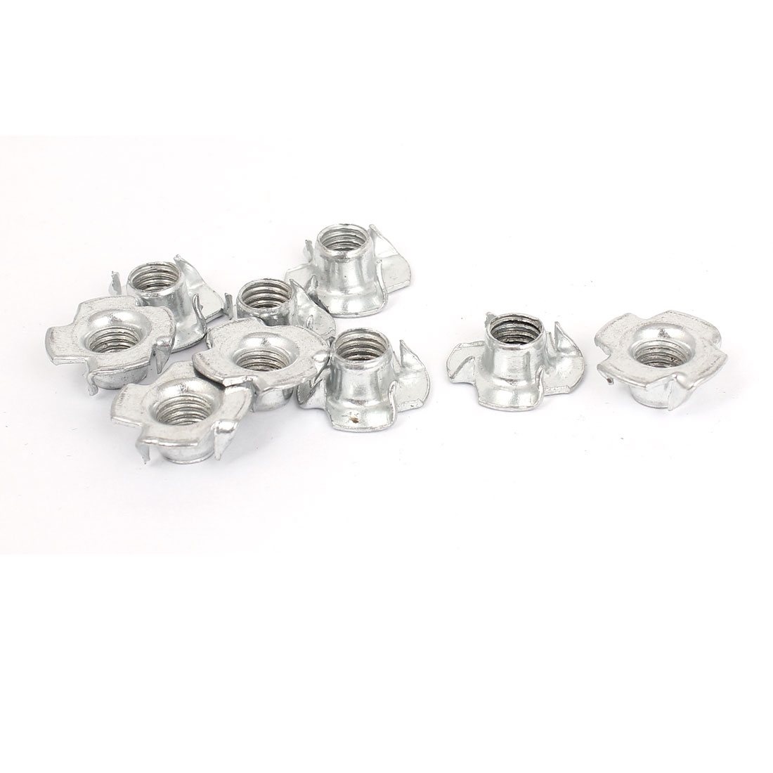 9 Pcs M8x1.25mmx20mm T Nut Zinc Plated 4 Prong Tee Nuts Fasteners