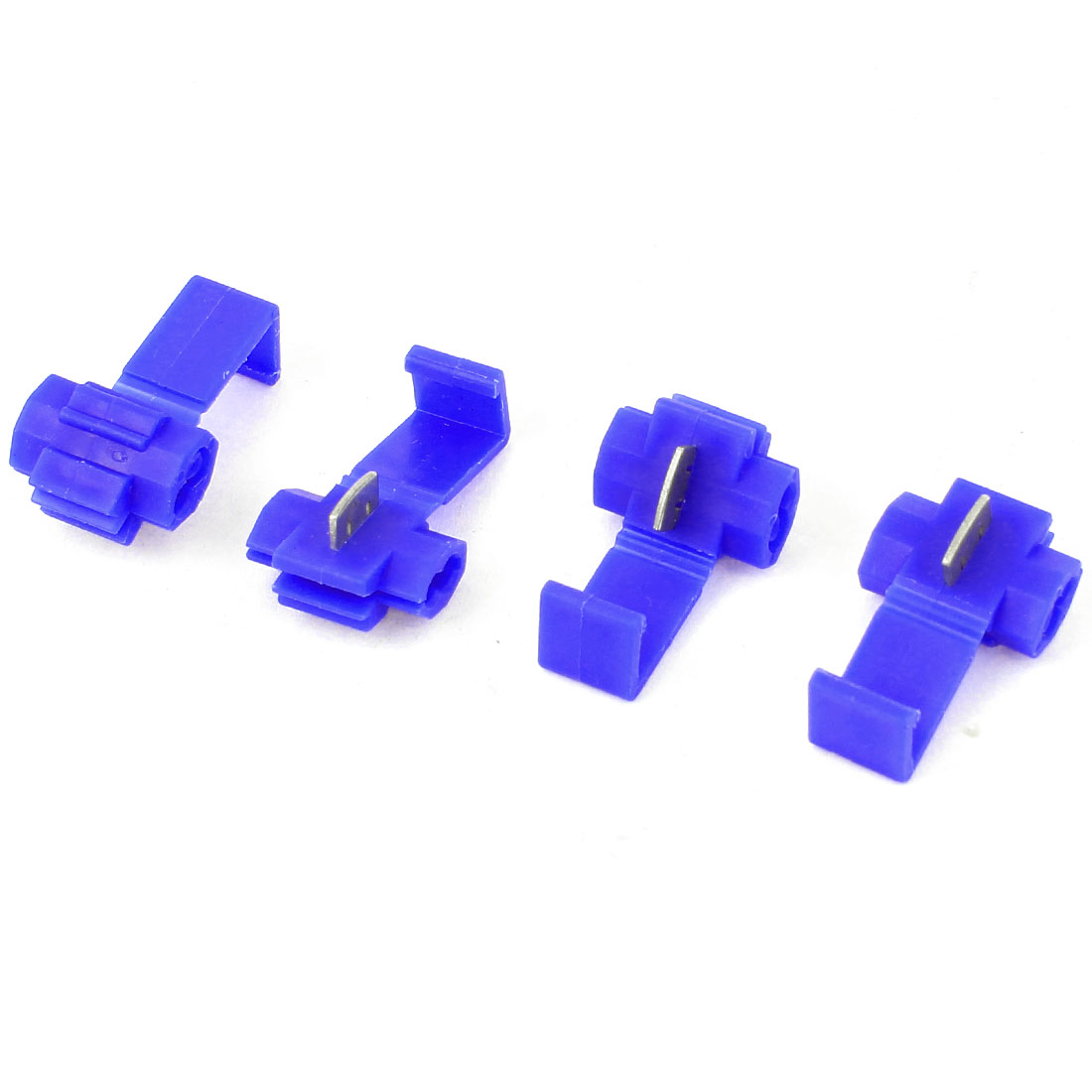 4 Pcs Blue Plastic 18-14 AWG Door Cable Wire Clip Clamp for Cars Auto
