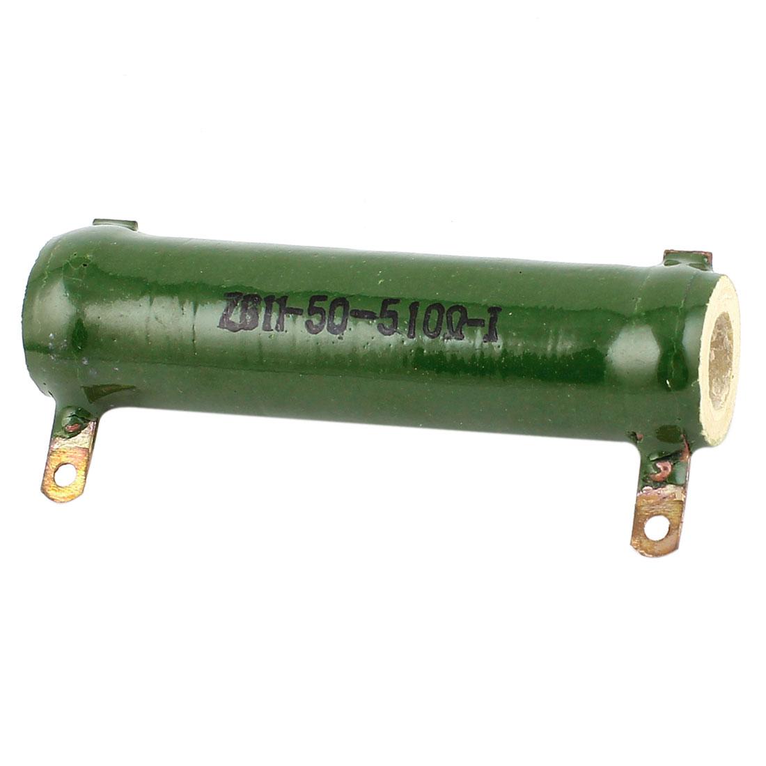 Ceramic Tube 50W Watt 510 Ohm 5% Tolerance Fixed Wirewound Resistor