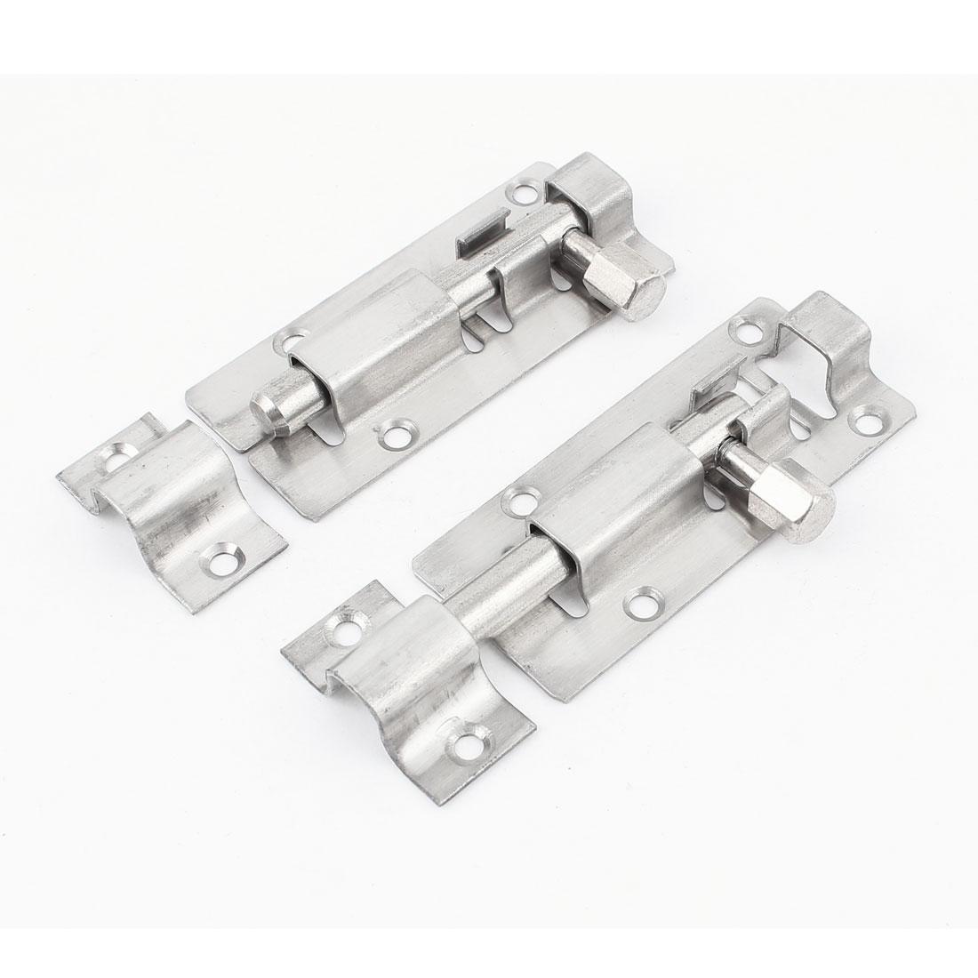 "3"" Long Stainless Steel Door Gates Latch Slide Lock Barrel Bolt 2pcs"
