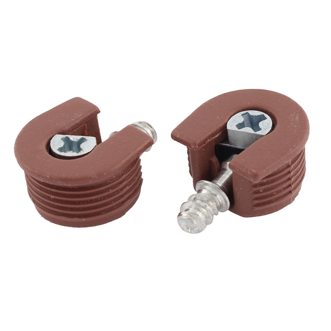 Furniture Metal Three-in-One Screw in Shelf Support Pin Supporter Brick Red 2Pcs