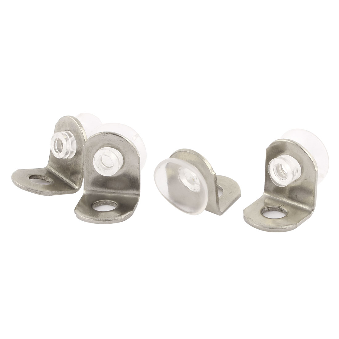 12mmx12mmx15mm Glass Shelf Mounting Holder Support Suction Cup Plates 4Pcs