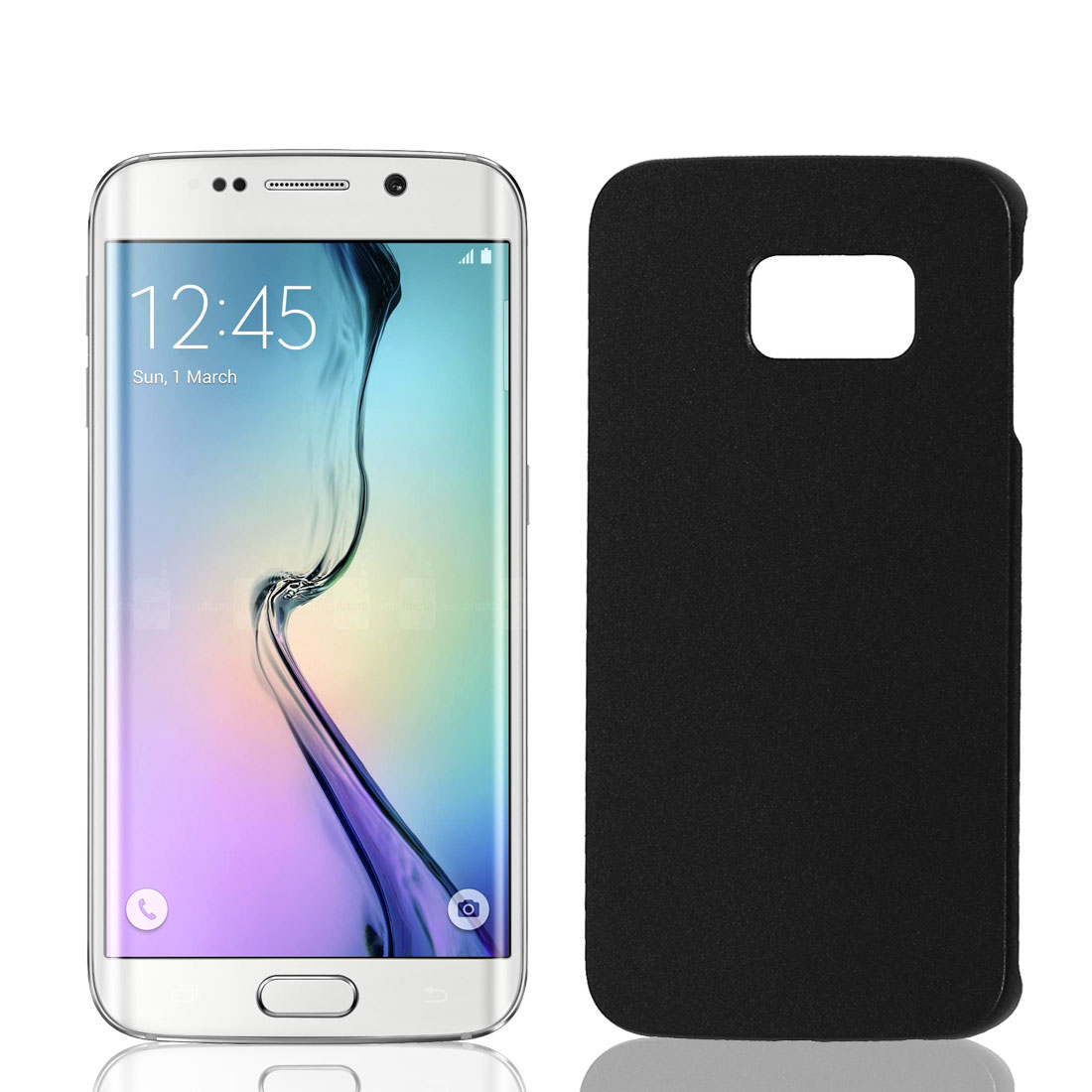 Black Hard Plastic Back Case Cover Phone Protective Shell Skin for Galaxy S6 Edge