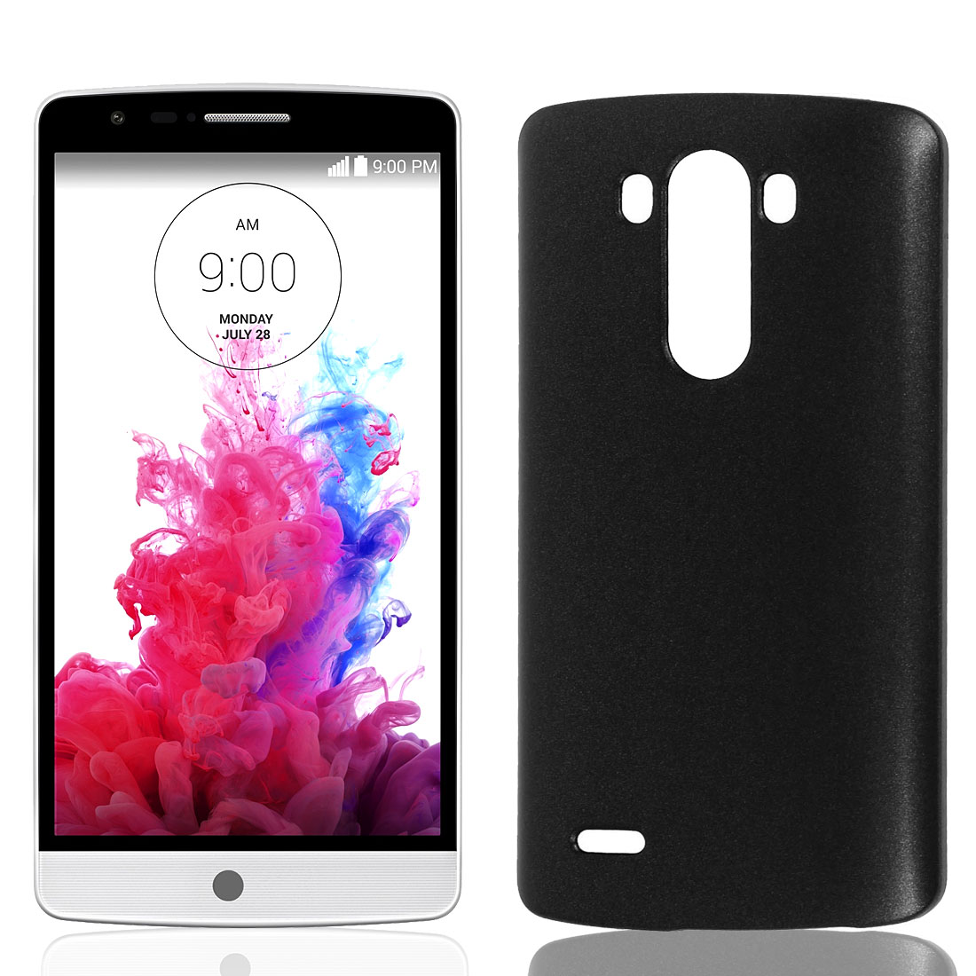 Black Hard Plastic Back Case Cover Phone Protective Shell Guard Skin for LG G3