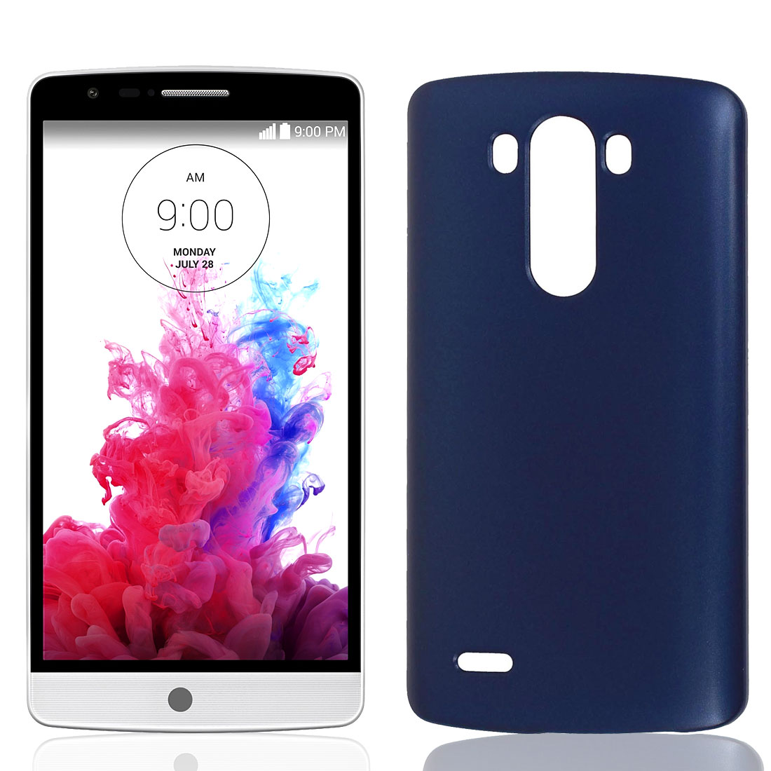 Blue Hard Plastic Dust Proof Case Cover Phone Shell Protector Skin for LG G3