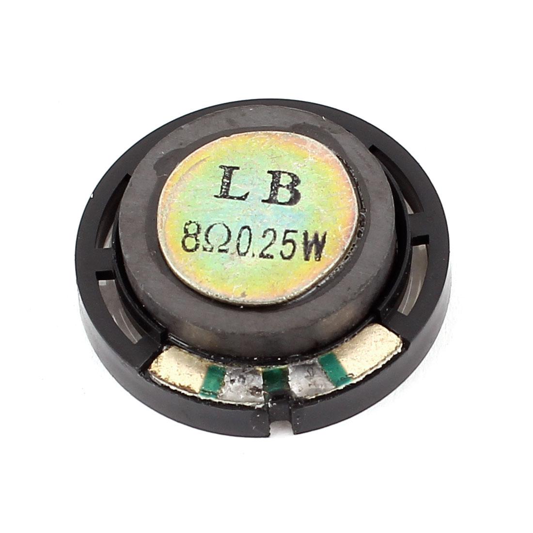 8 Ohm 0.25W 29mm Dia Round Magnetic External Magnet Electronic Speaker Loudspeaker