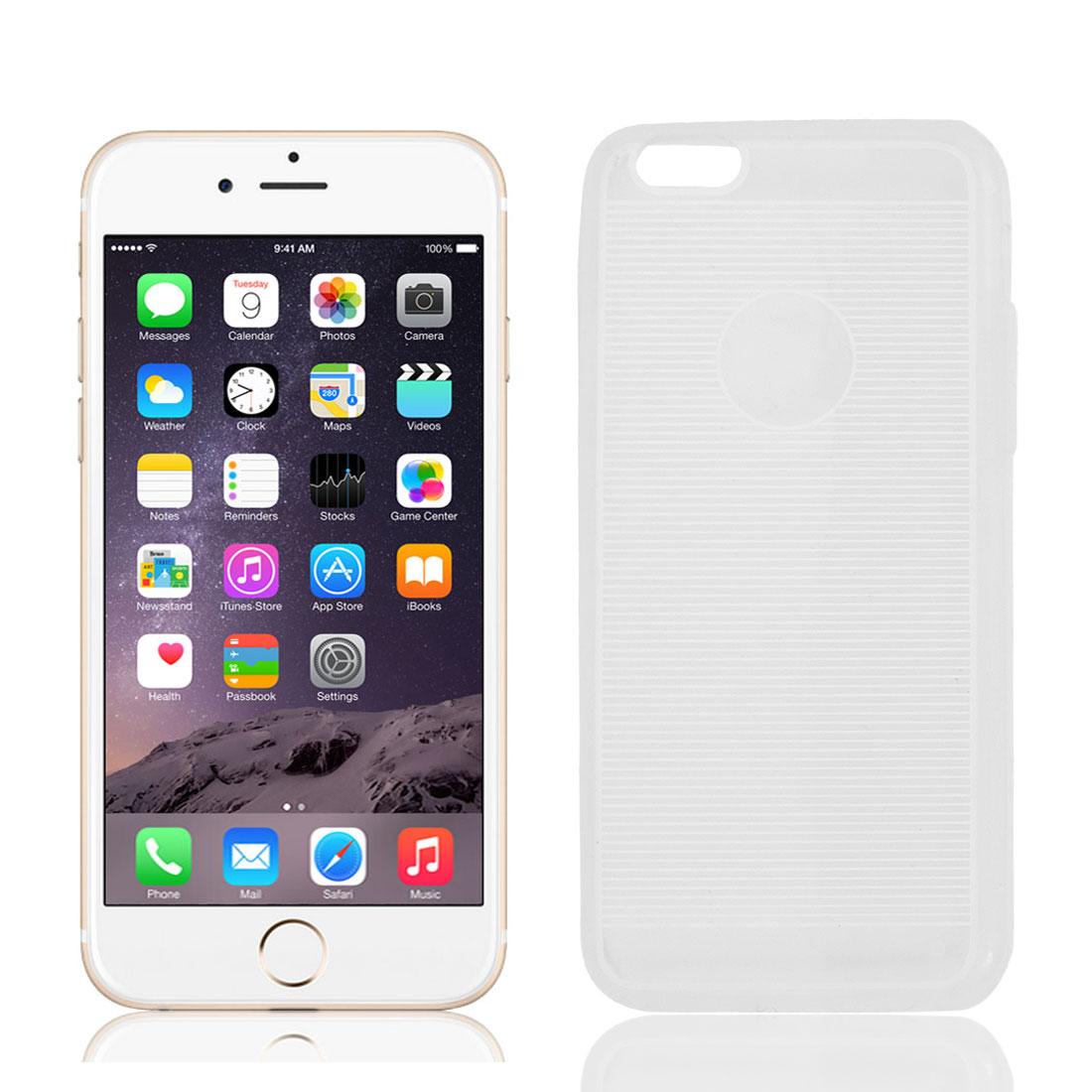 "Stripe Pattern Transparent Skin TPU Case Cover White for Iphone 6 4.7"""