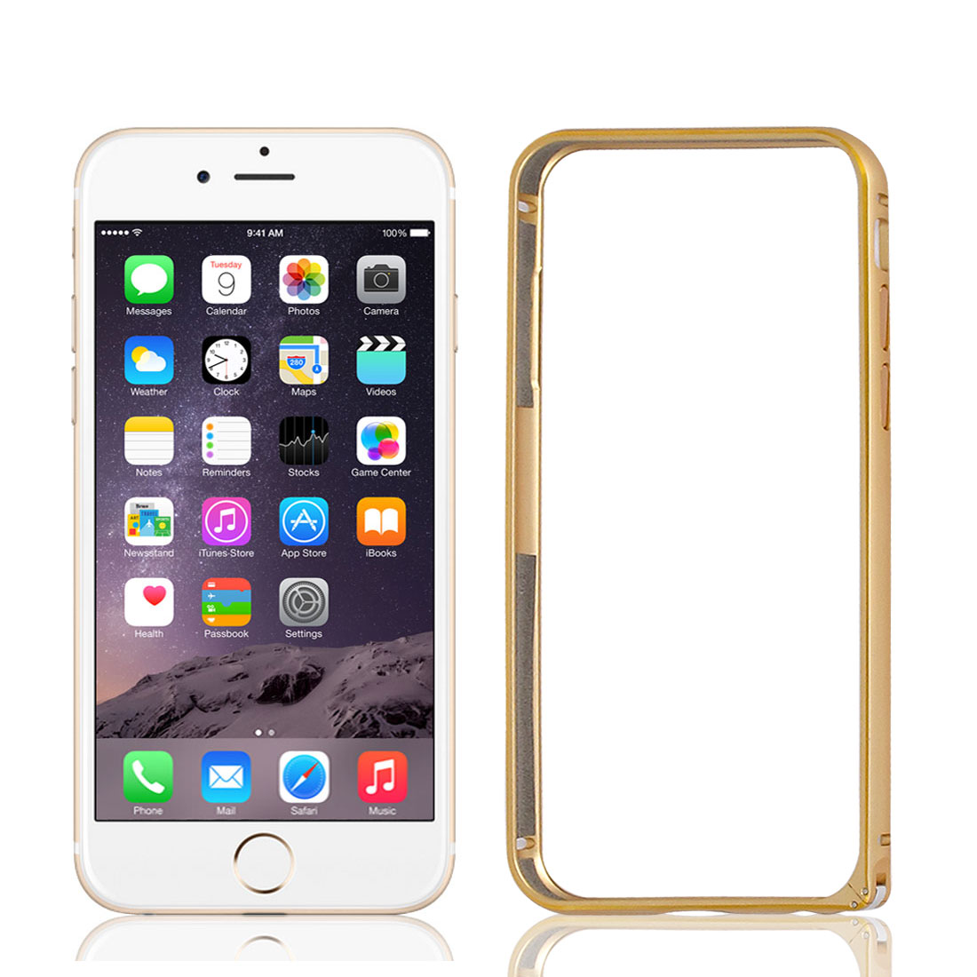 Ultra Thin Slim Aluminum Bumper Frame Cover Case Gold Tone for iPhone 6 4.7""