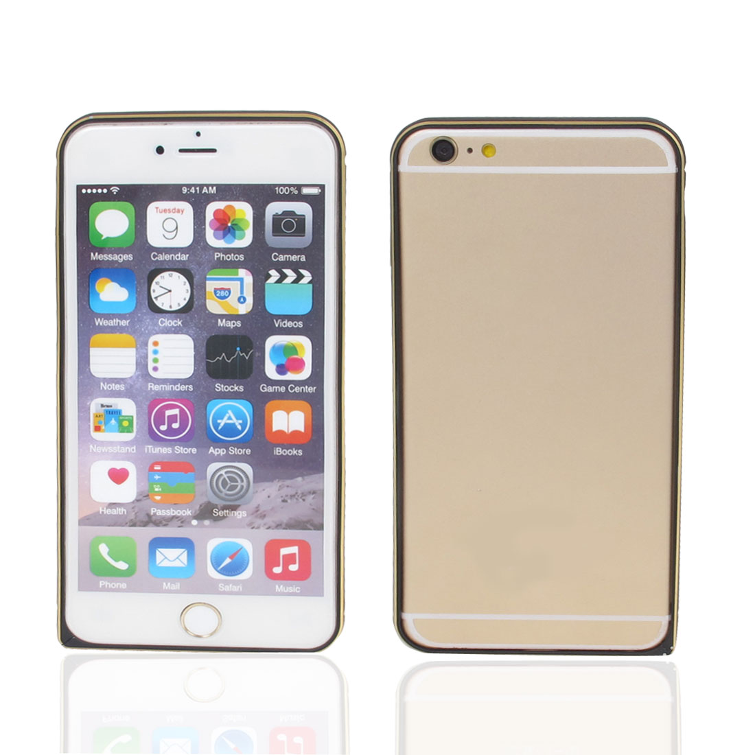 Ultra Thin Aluminum Metal Bumper Frame Cover Case Black for iPhone 6 Plus 5.5""