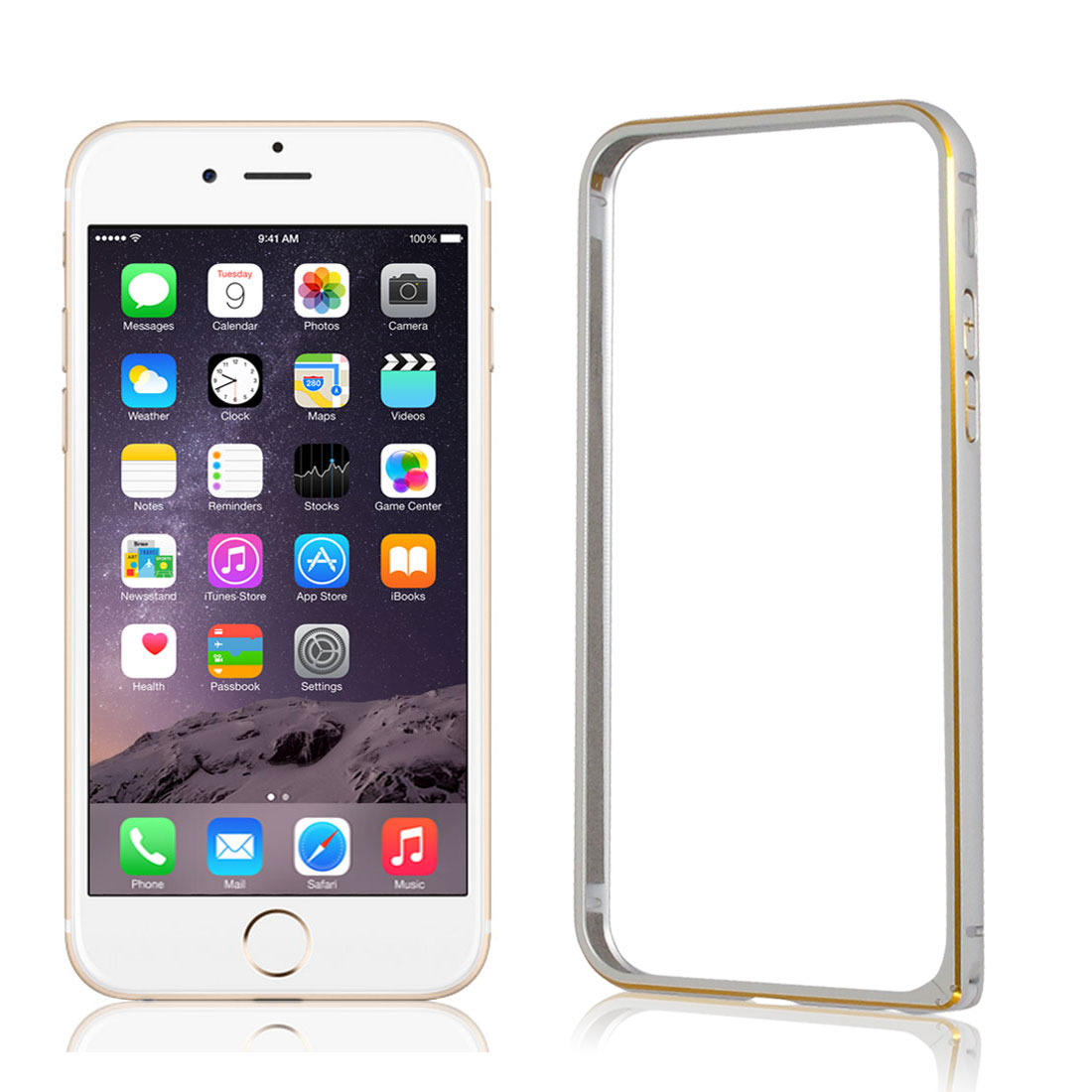 Ultra Thin Slim Aluminum Bumper Frame Cover Case Silver Tone for iPhone 6 4.7""