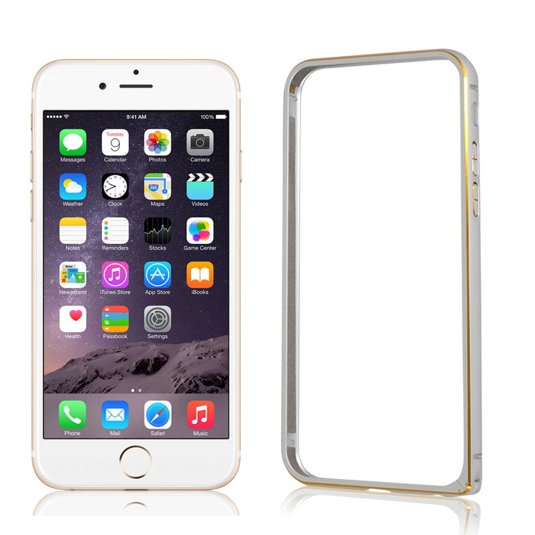"Ultra Thin Slim Aluminum Bumper Frame Cover Case Silver Tone for iPhone 6 4.7"""