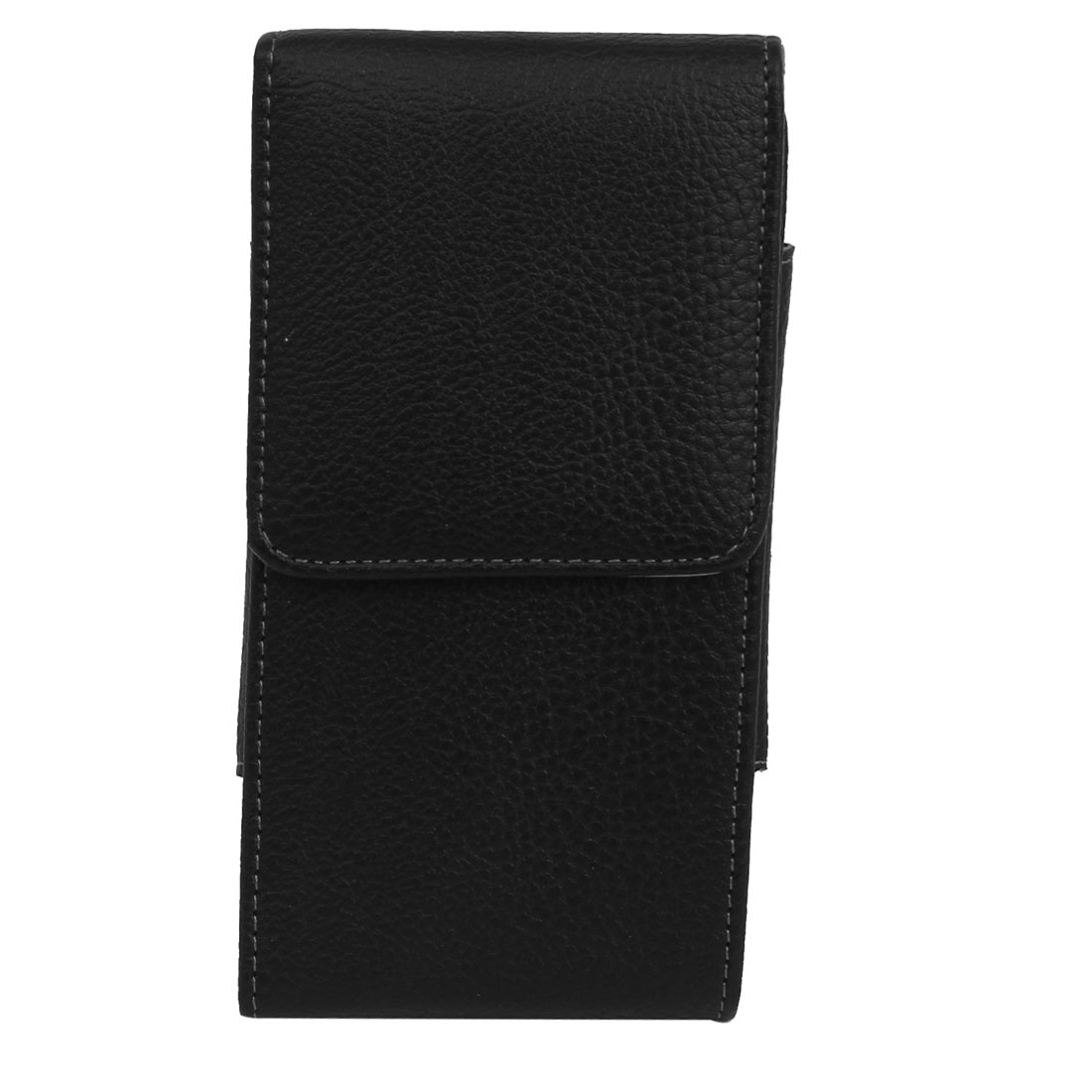 """Magnetic Flip Faux Leather Pouch Black + Protective Film for iPhone 6Plus 5.5"""""""