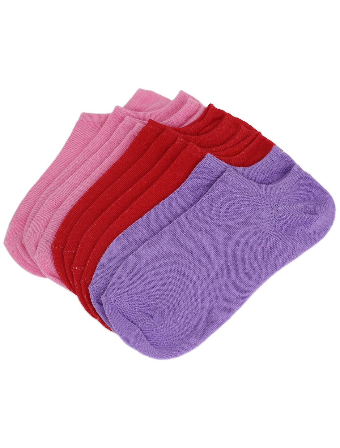Lady Cotton Blends Elastic Low Cut Sports Ankle Socks Assorted Colors 5 Pairs