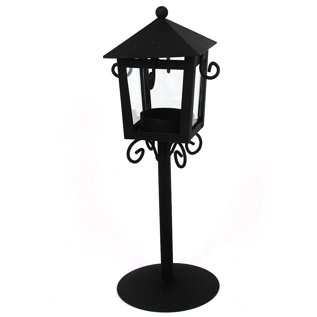 Retro Style Hanging Candle Holder Tea Light Stand Lantern Gift Black