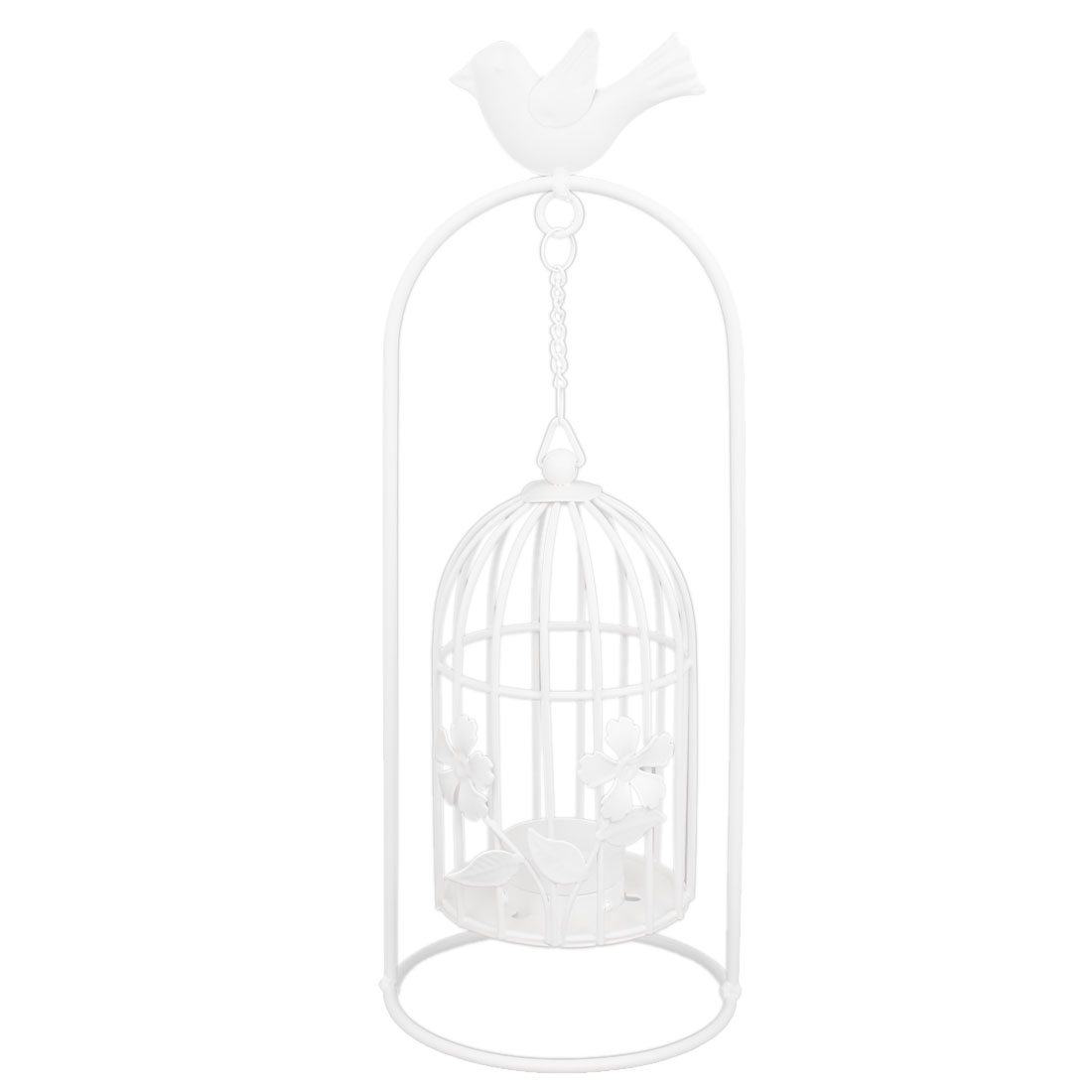 Metal Vintage Style Bird Cage Candle Holder Stand Table Decoration