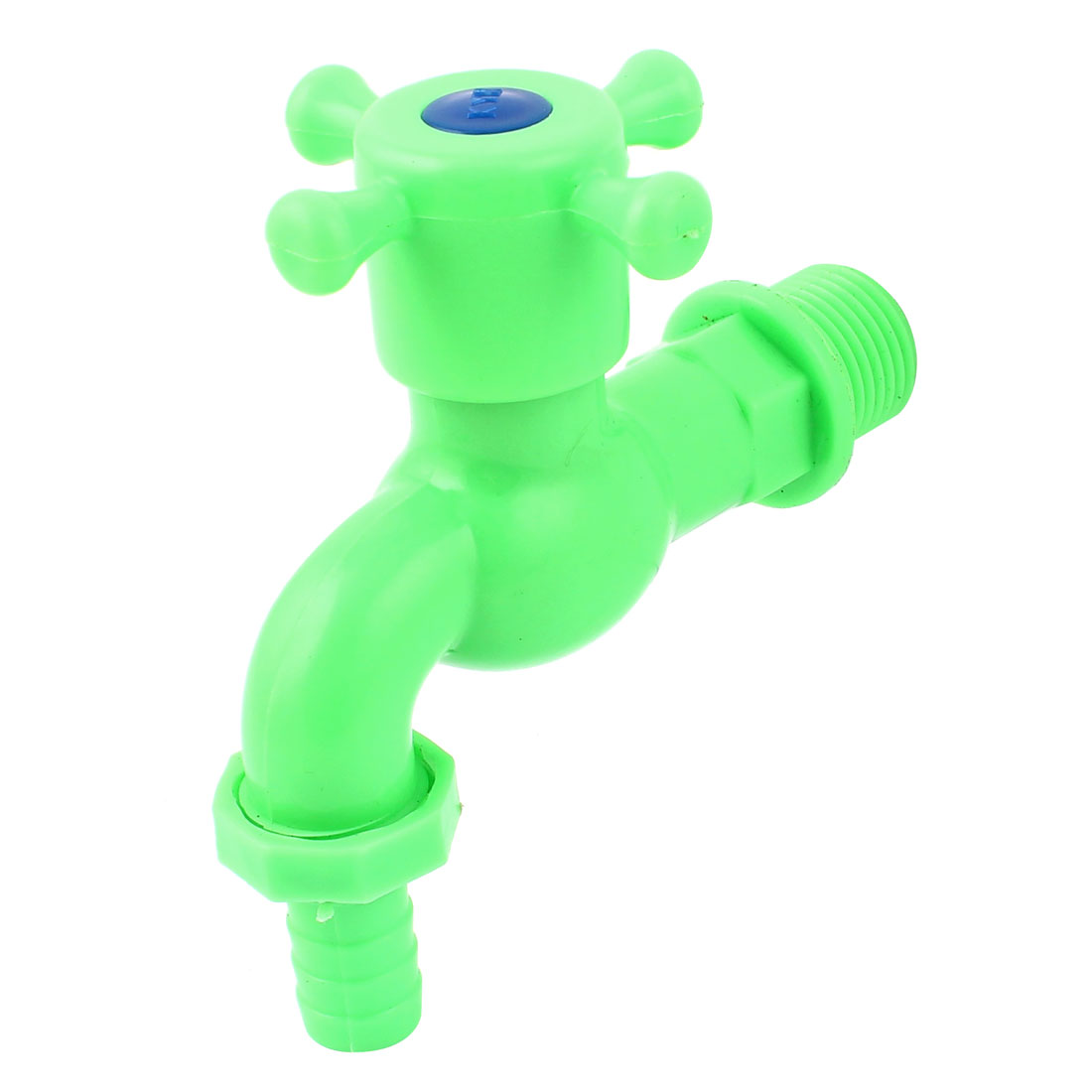 Plastic Water Pipe Hole Stop Tap Valve Dispenser Faucet Green
