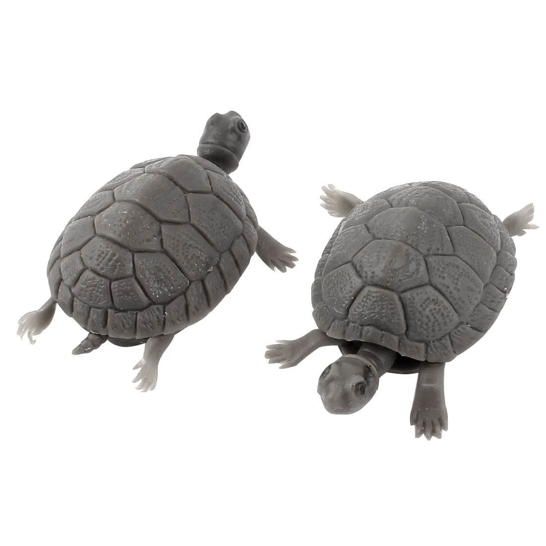 Aquarium Fish Tank Plastic Simulated Tortoise Decorative Ornament Decor 2pcs