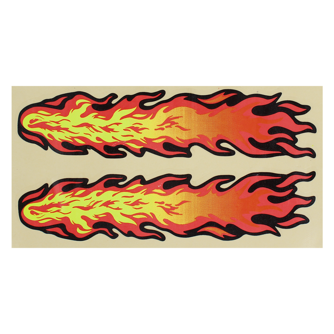 Red Yellow Flames Decal Style Sticker for Car Motorcycle