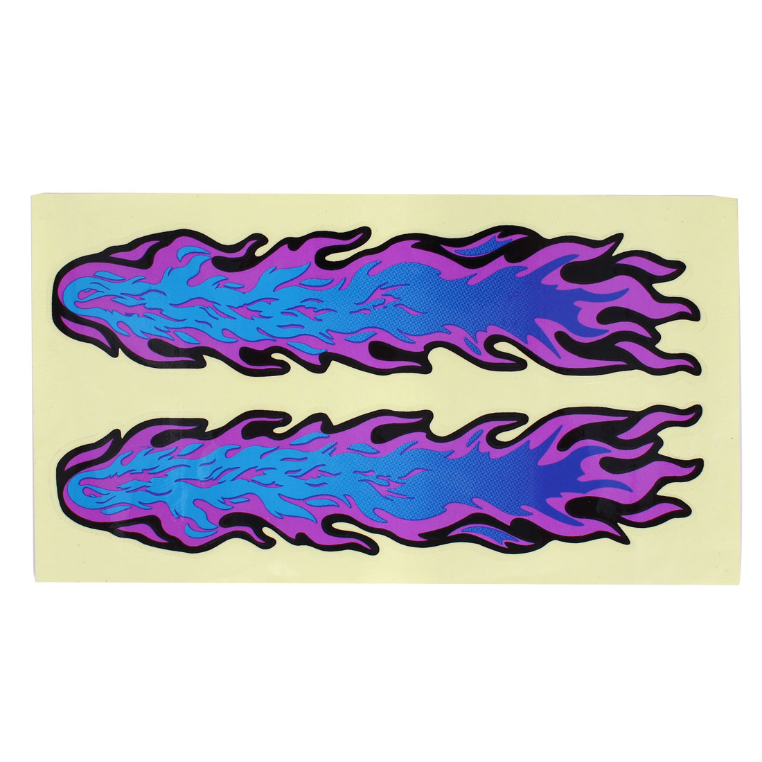 Purple Blue Flames Decal Style Sticker for Car Motorcycle
