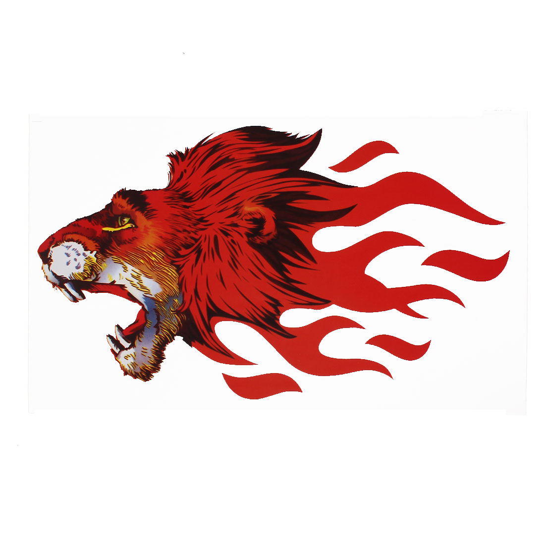 Decal Red Lion Stickers Figure For Motocycle