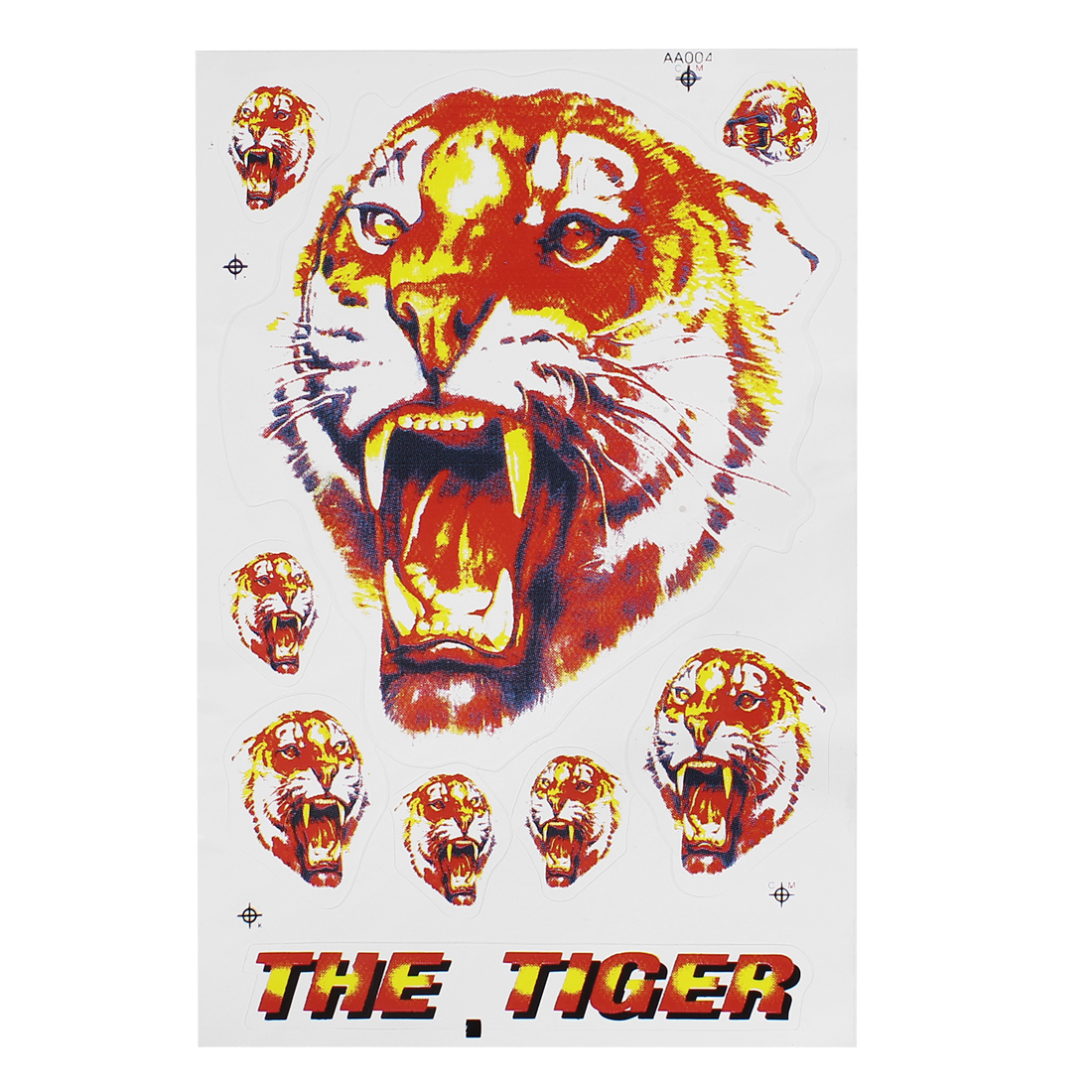 "7"" Tiger Decal Window Art Sticker Design For Motocycle Bike"