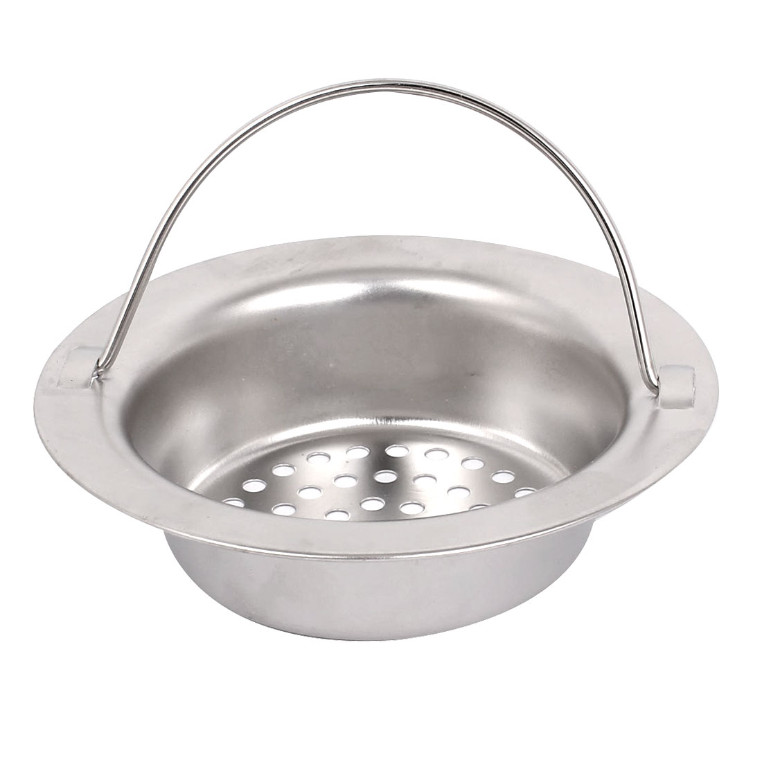 Kitchen Bathroom Metal Mesh Hole Design Sink Strainer Basket Drain Bathtub Net w Handle