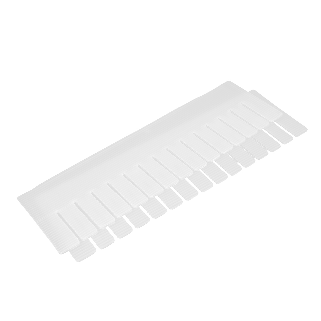 2pcs 42.5cm x 13cm White Plastic Drawer Divider Closet Box Divide Board Plates