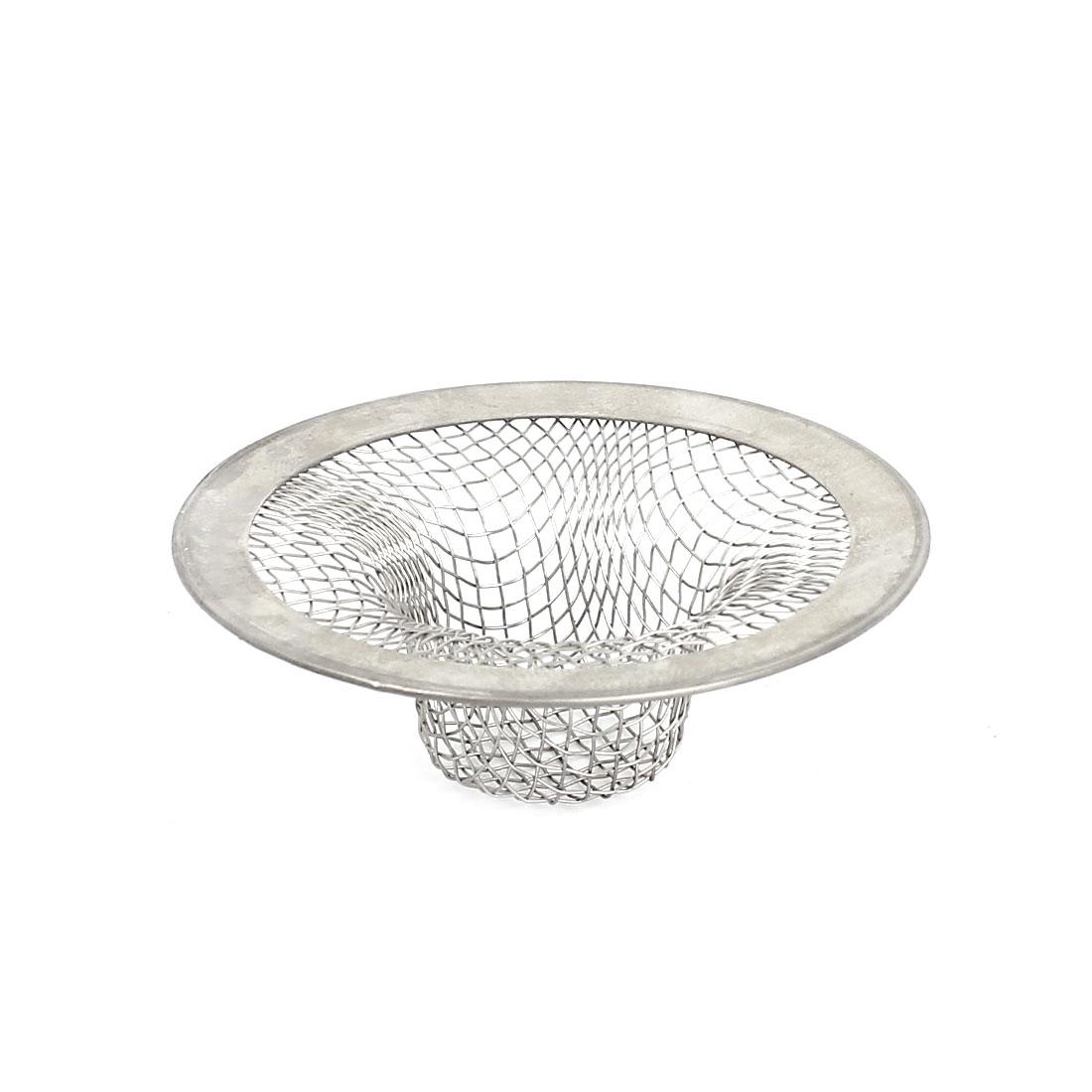 Kitchen Metal Mesh Sink Strainer Basket Drain Stoper Net Bathtub Protector