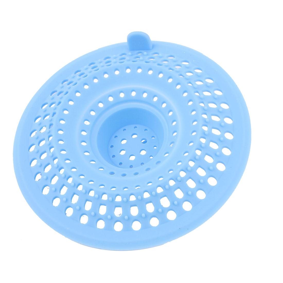 Bathroom Blue Silicone Mesh Hole Design Sink Strainer Basket Bath Basin Shower Stopper Drain Bathtub Net