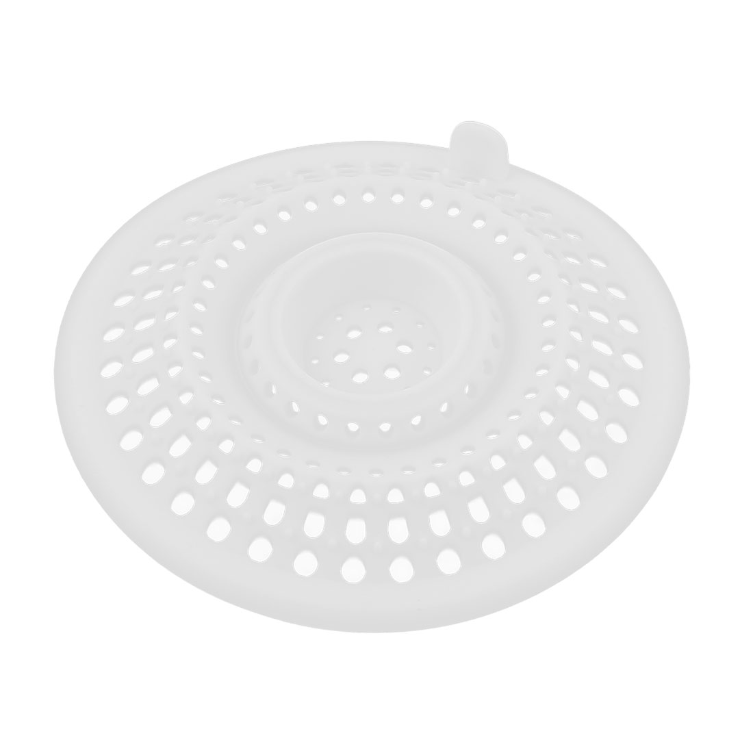 Bathroom White Silicone Mesh Hole Design Sink Strainer Basket Bath Basin Shower Disposal Drain Bathtub Net