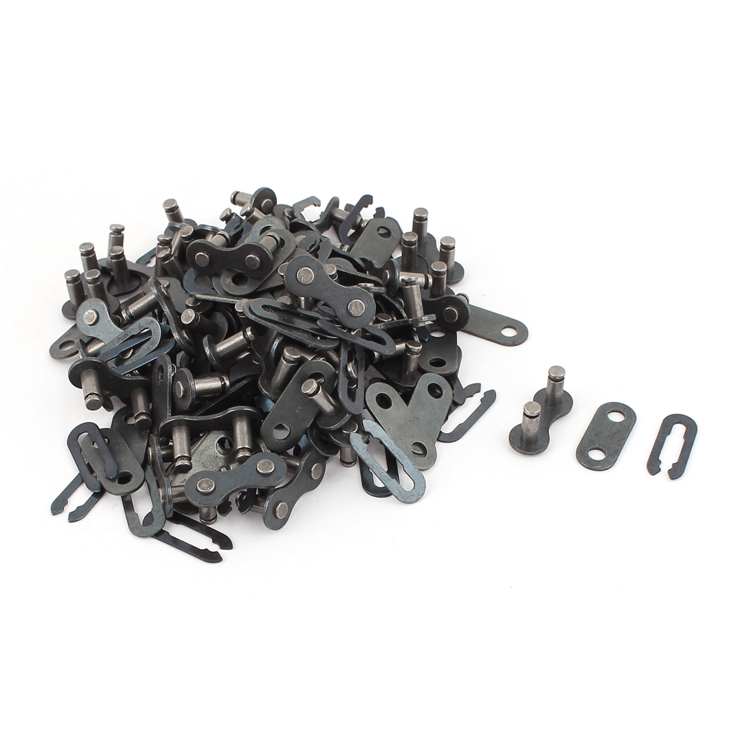 Bicycle Bike Gray Metal Chain Clip Master Link Connectors Repair Parts 50 Sets