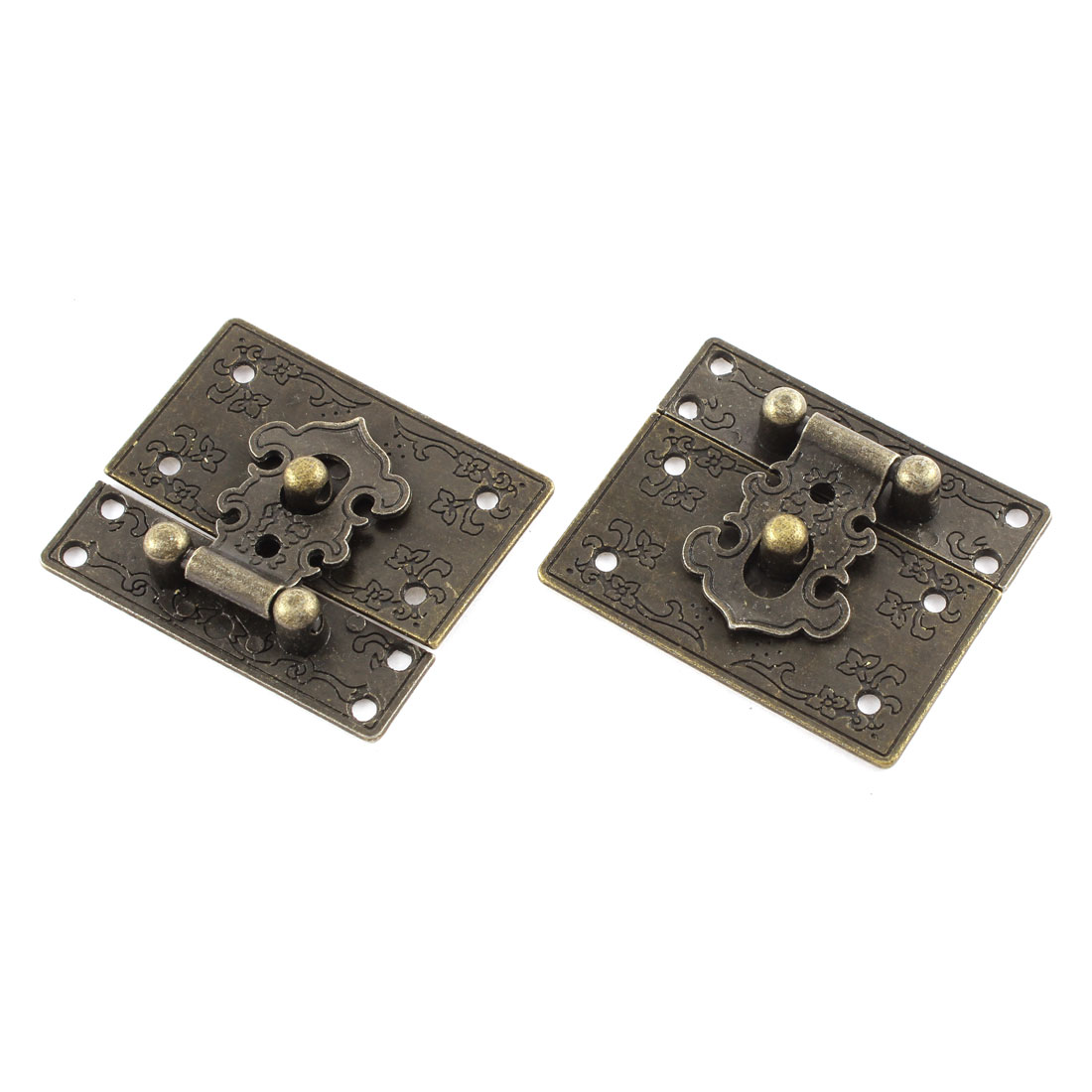 2pcs 55mmx47mm Vintage Style Jewelry Box Hasp Lock Latch w Screws