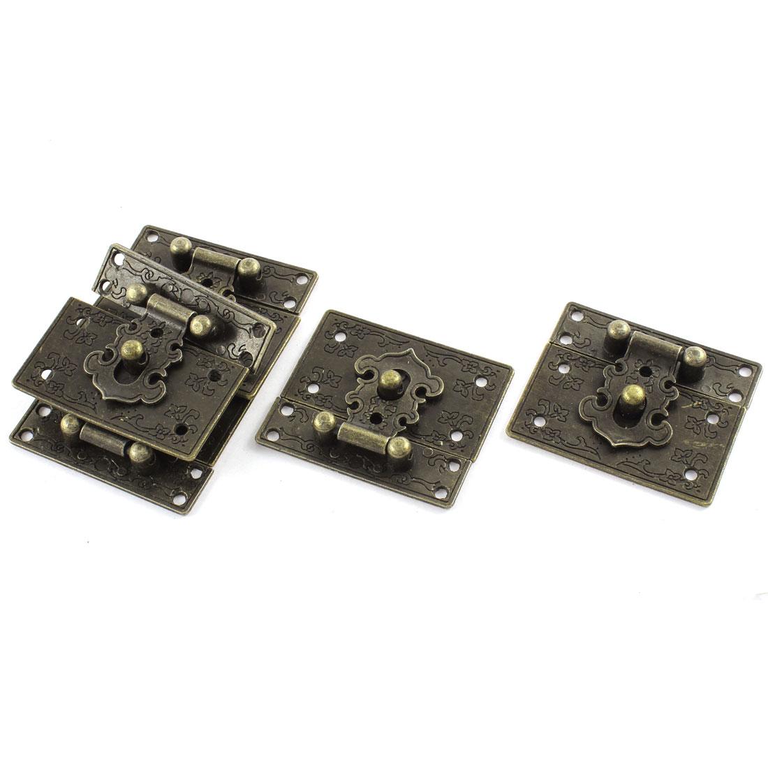 5pcs 55mmx47mm Vintage Style Jewelry Box Hasp Lock Latch w Screws
