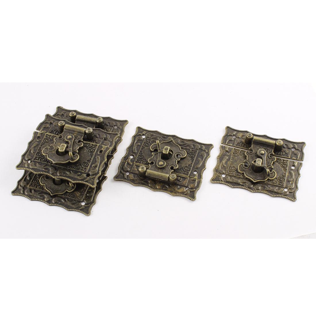 5pcs 67mmx56mm Vintage Style Jewelry Box Hasp Latch Lock w Screws