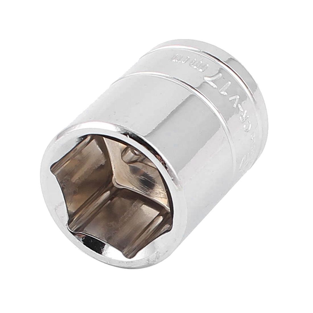 "3/8"" Drive Chrome-vanadium Steel Metric 6 Point Axle Nut Hex Socket 17mm"