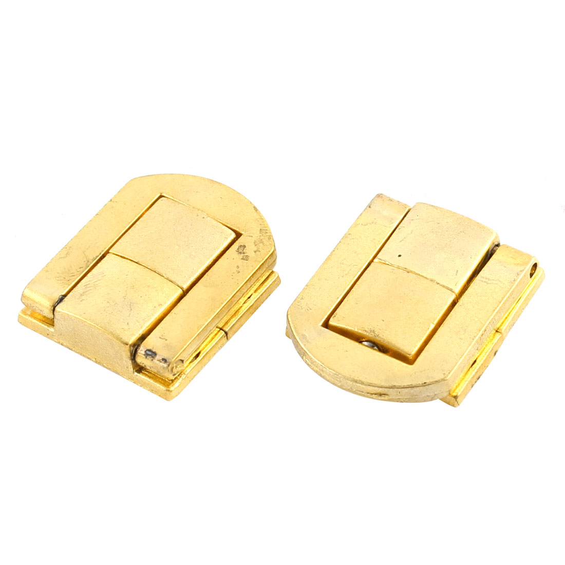 2pcs 25mmx21mm Gold Tone Zinc Alloy Suitcase Box Lid Hidden Hole Latch