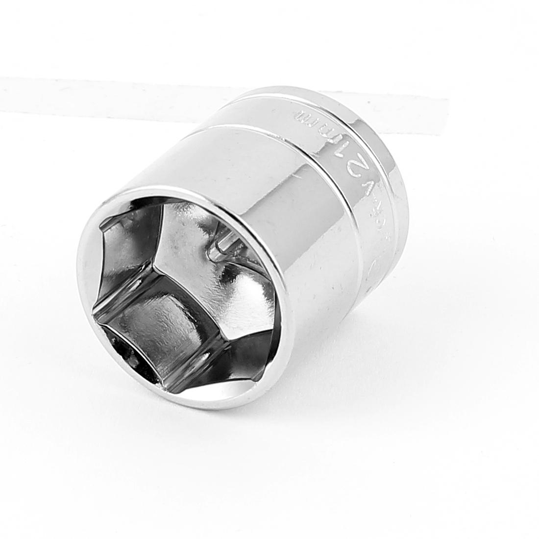 "3/8"" Drive Chrome-vanadium Steel Metric 6 Point Axle Nut Hex Socket 21mm"