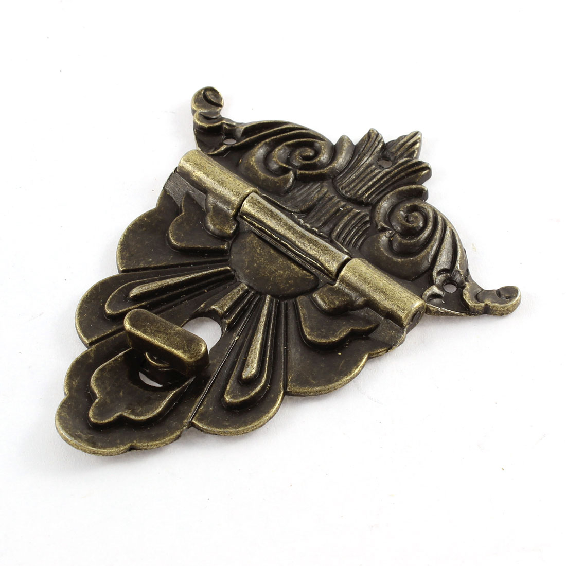 100mmx80mm Retro Style Bronze Tone Jewelry Box Drawer Decorative Hasp Lock Latch