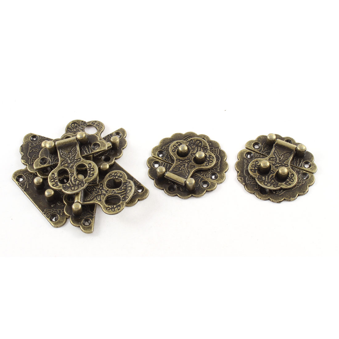 5pcs 40mmx40mm Vintage Style Flower Shape Box Suitcase Toggle Latch Buckles