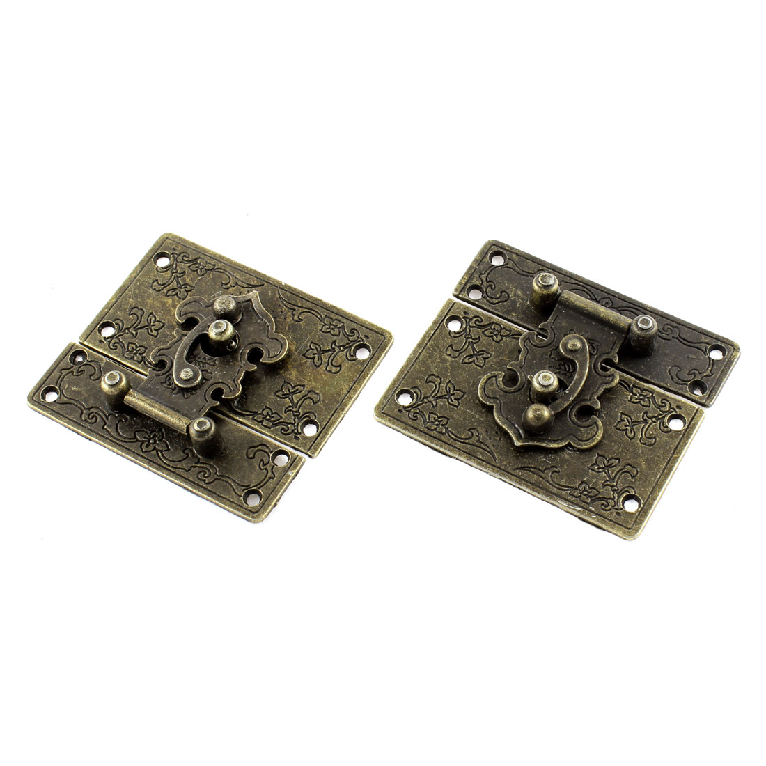 2pcs 67mmx58mm Vintage Style Jewelry Box Hasp Latch Lock w Screws