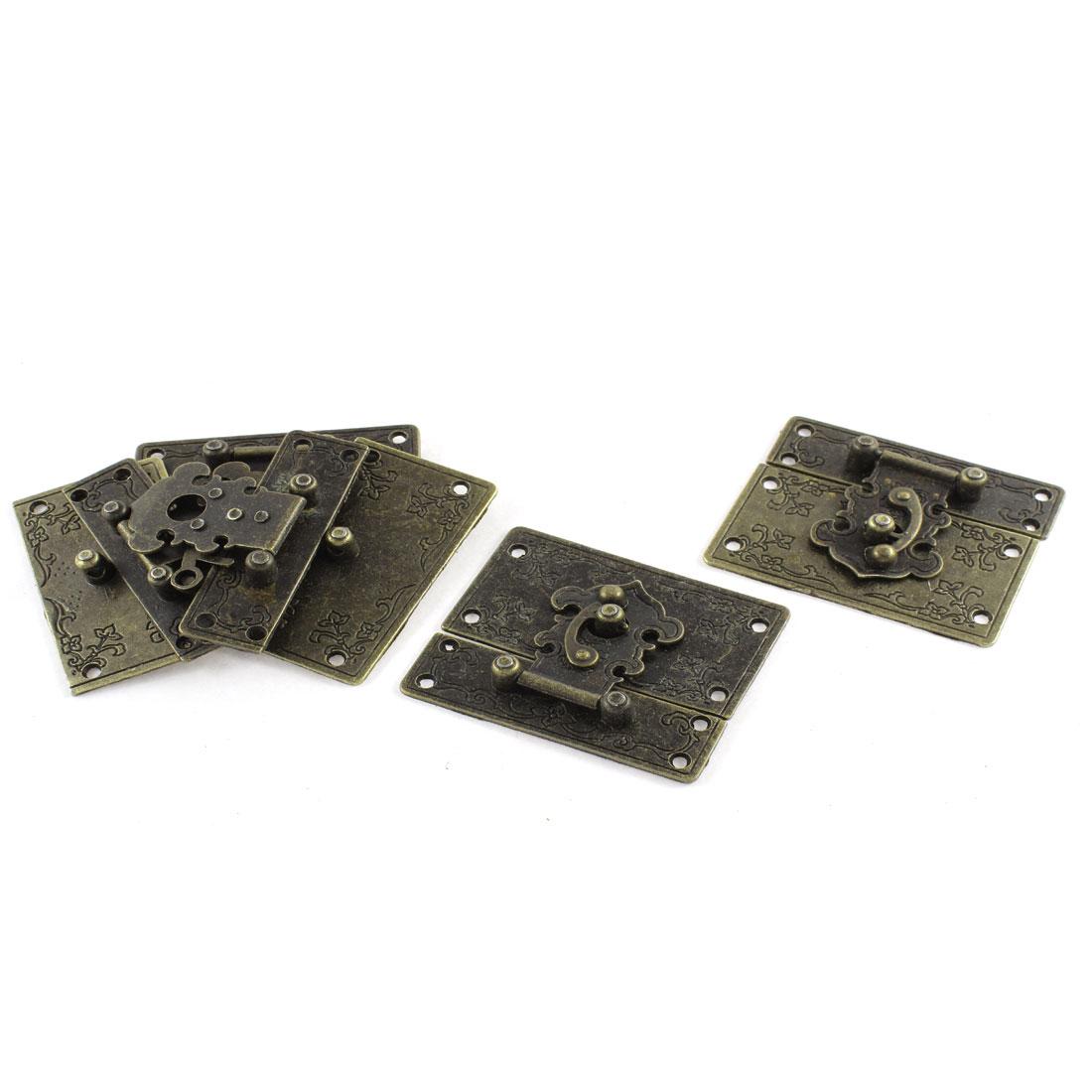 5pcs 67mmx58mm Vintage Style Jewelry Box Hasp Latch Lock w Screws